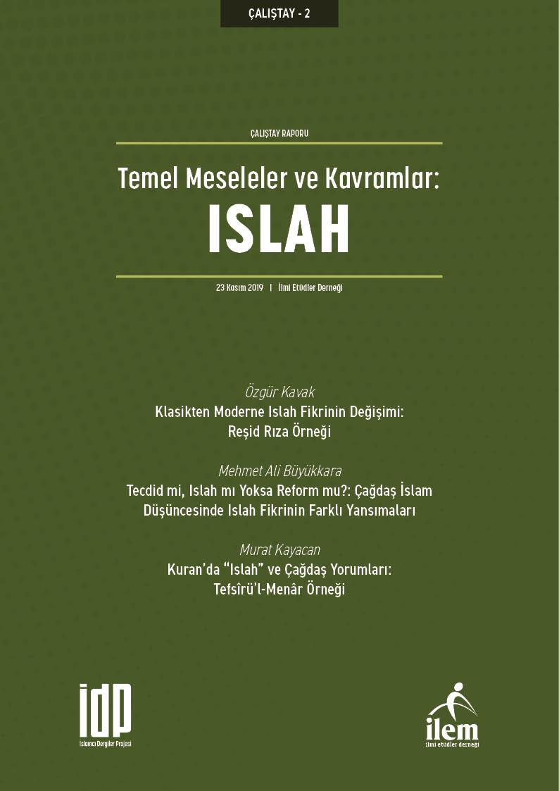 Temel Meseleler ve Kavramlar: ISLAH